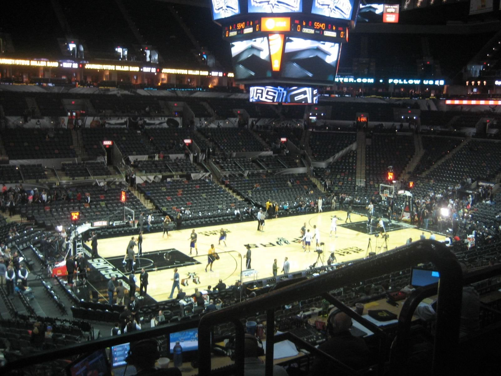 Seat View for AT&T Center Section 110, Row 30, Seat 1