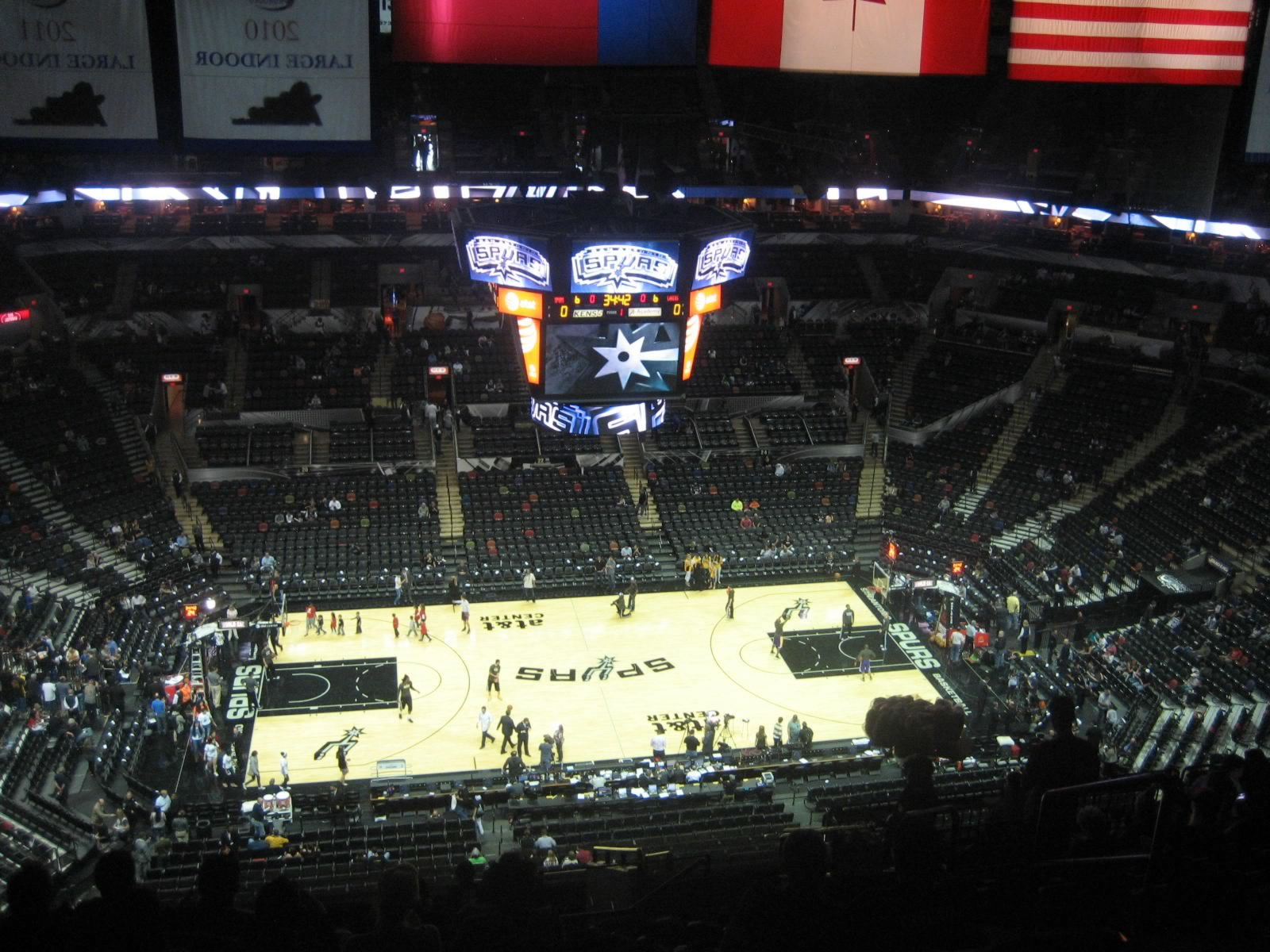 Seat View for AT&T Center Section 209, Row 17