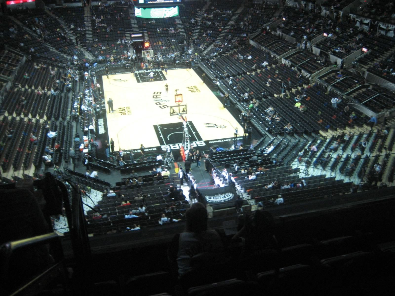Seat View for AT&T Center Section 201, Row 5, Seat 6