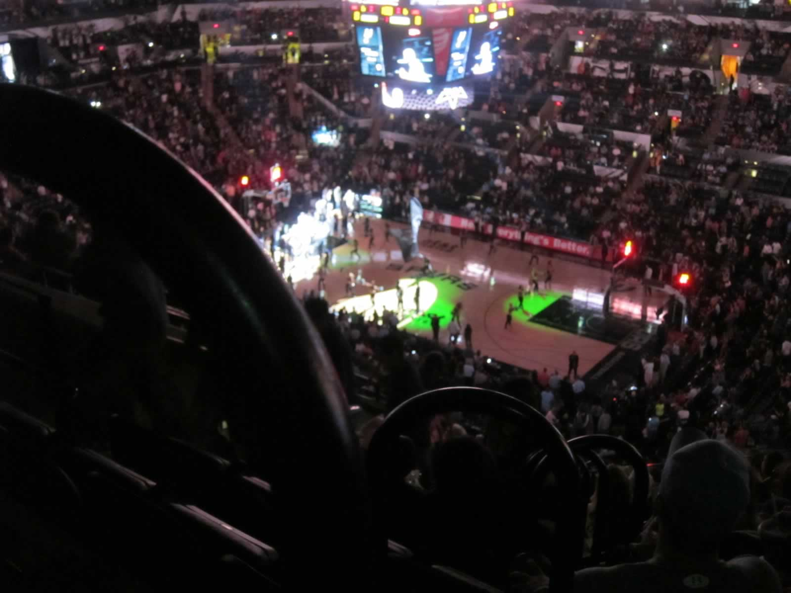 Seat View for AT&T Center Section 221, Row 10, Seat 10