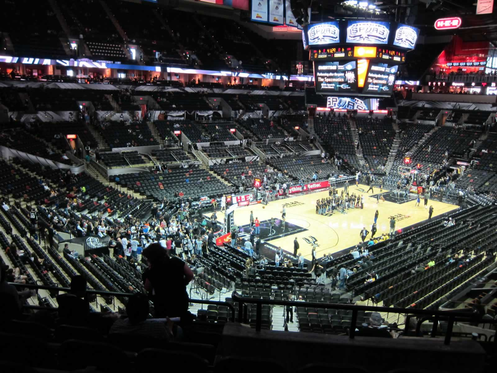 Seat View for AT&T Center Section 126, Row 34, Seat 13