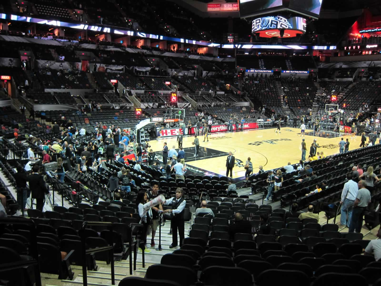 Seat View for AT&T Center Section 125, Row 21, Seat 1
