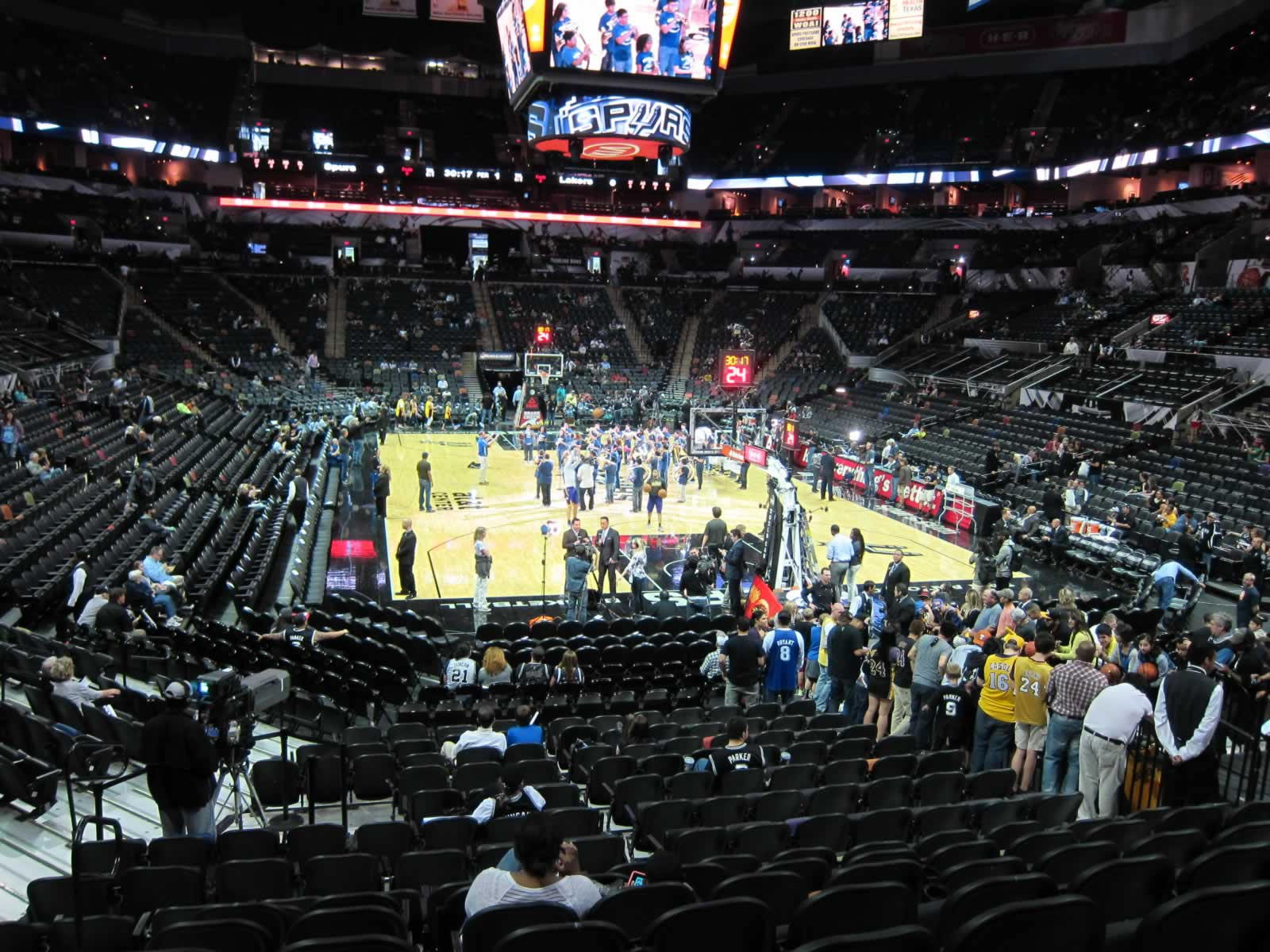 Seat View for AT&T Center Section 115, Row 21, Seat 15