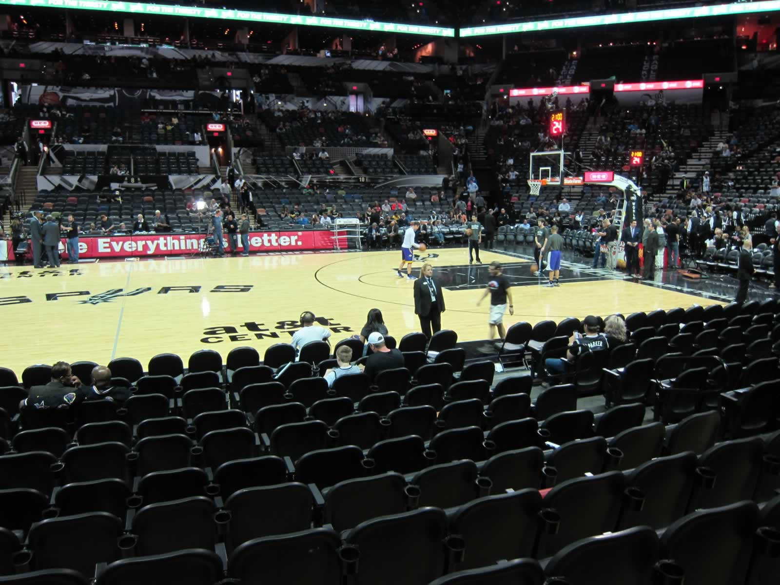 Seat View for AT&T Center Section 22, Row 11, Seat 8