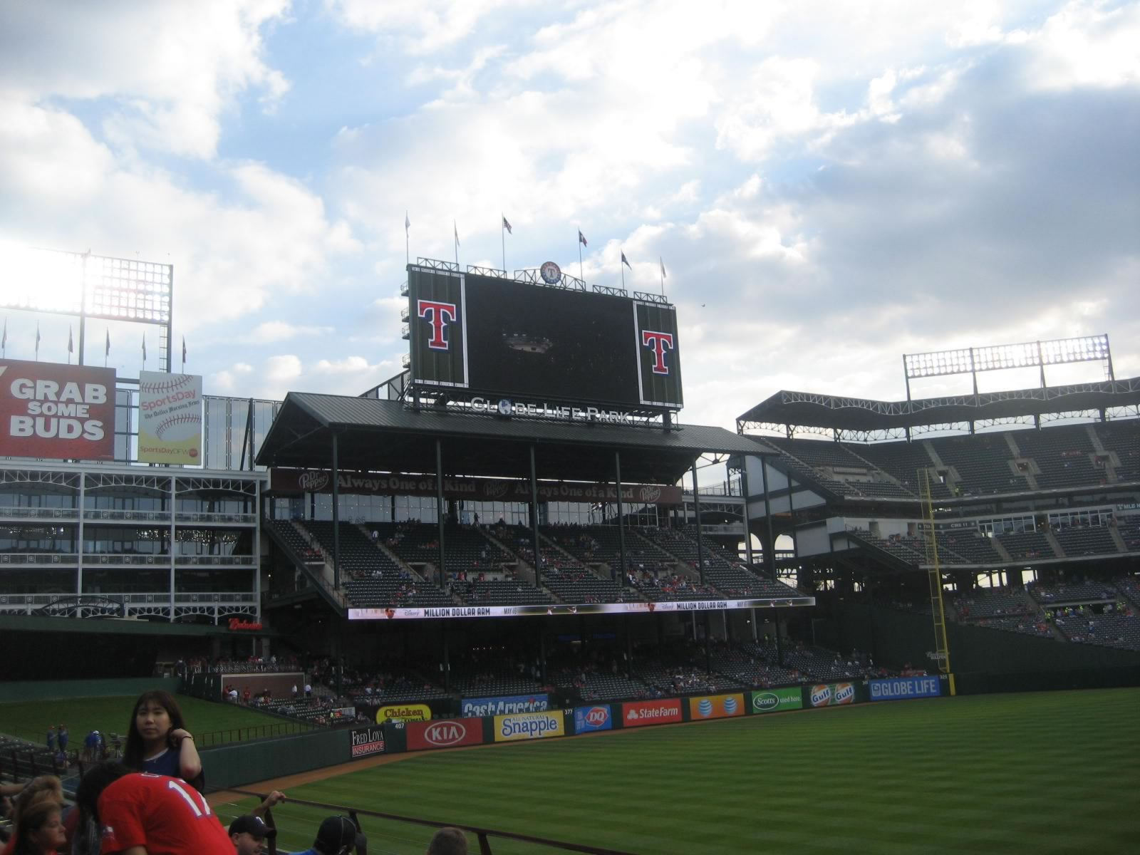 Seat View for Globe Life Park Section 8, Row 4, Seat 7