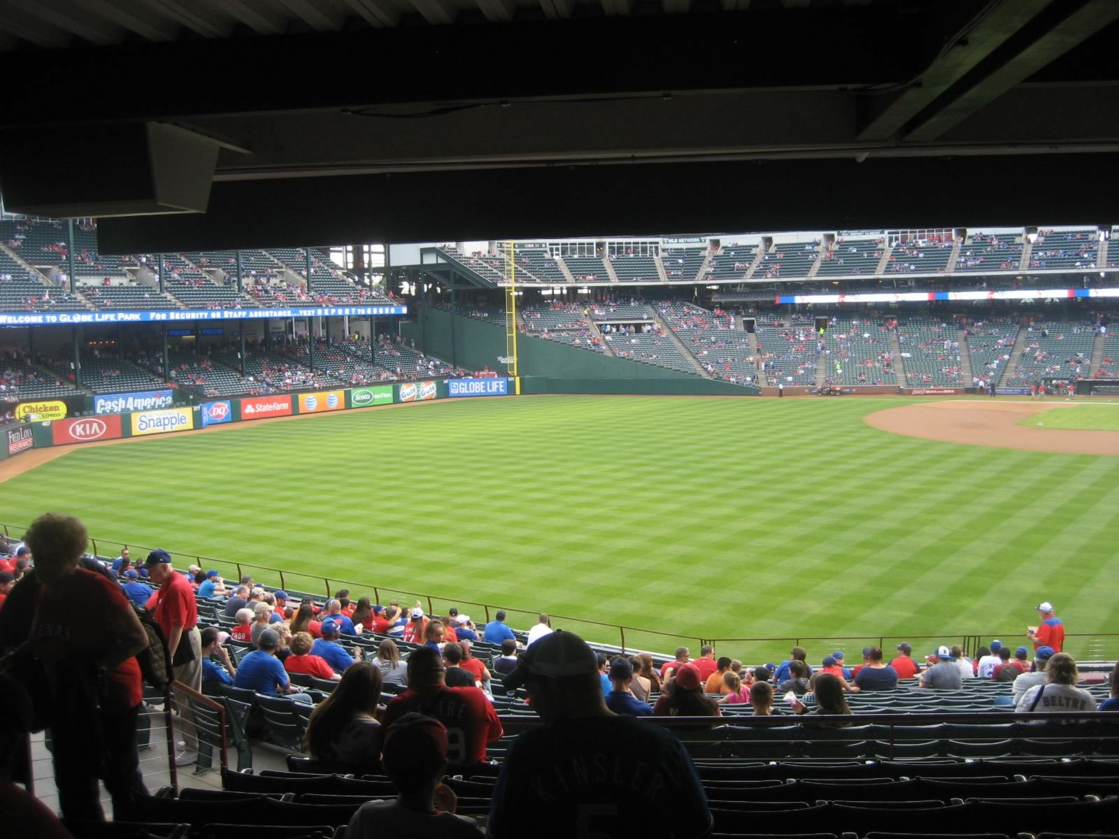 Seat View for Globe Life Park Section 8, Row 24, Seat 4