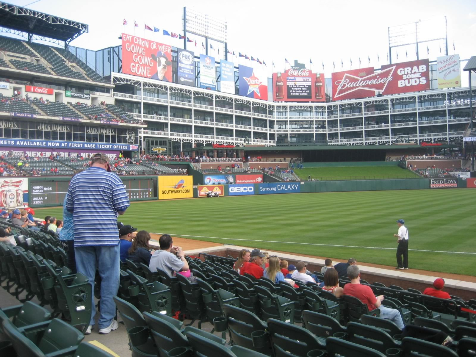 Seat View for Globe Life Park Section 16, Row 10, Seat 7