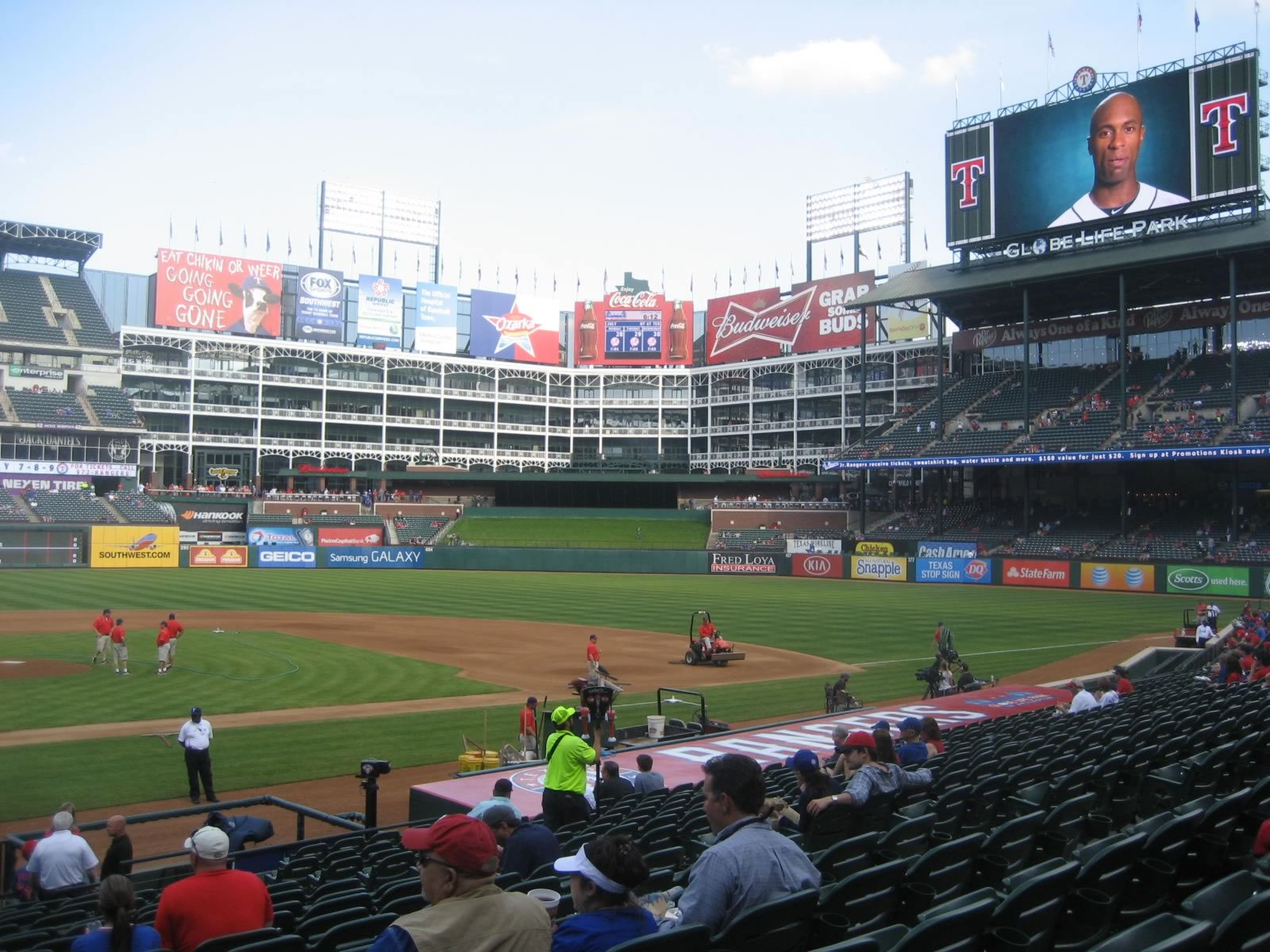 Seat View for Globe Life Park Section 31, Row 19, Seat 1