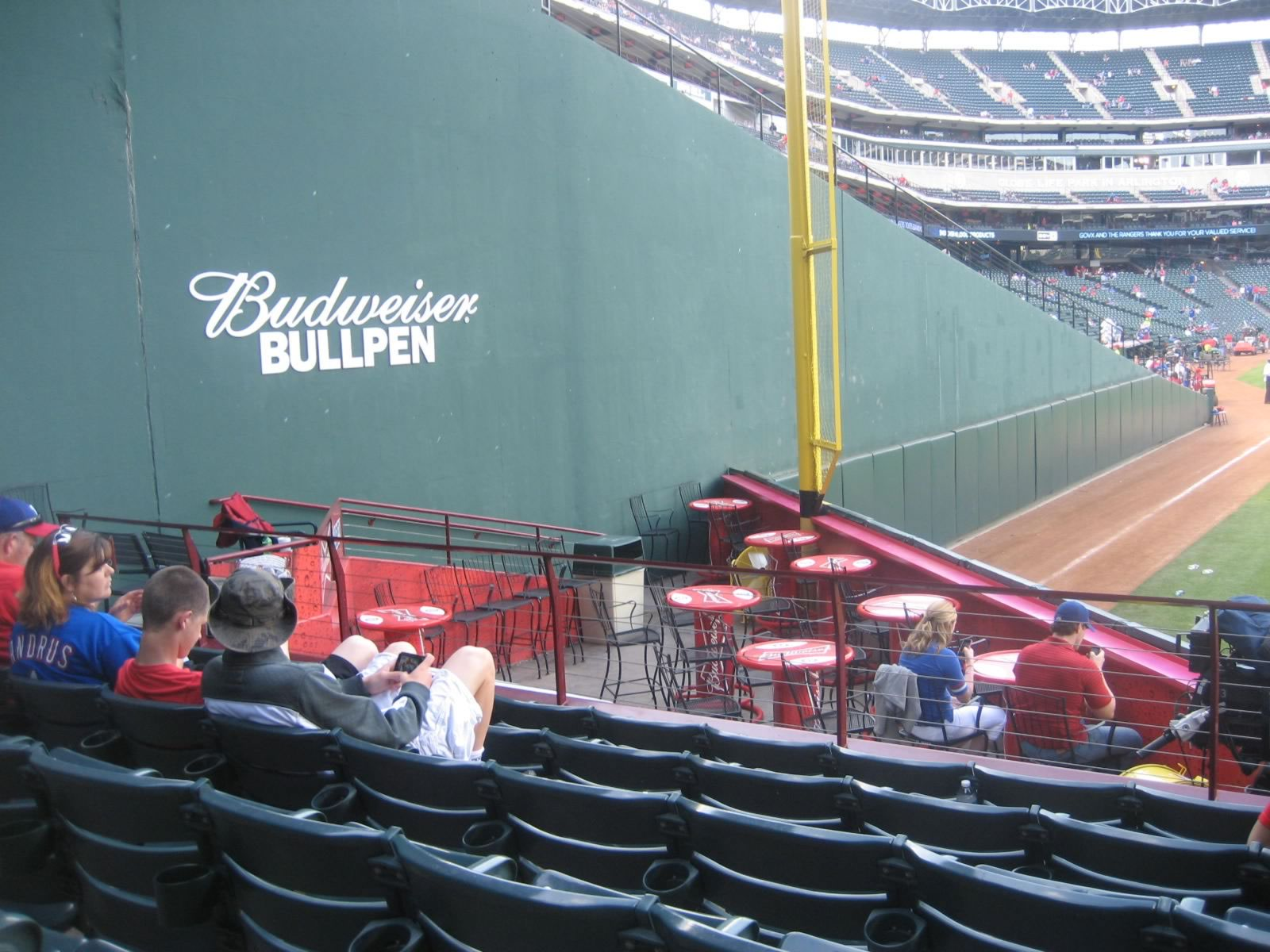 Picture looking into the Budweiser Bullpen