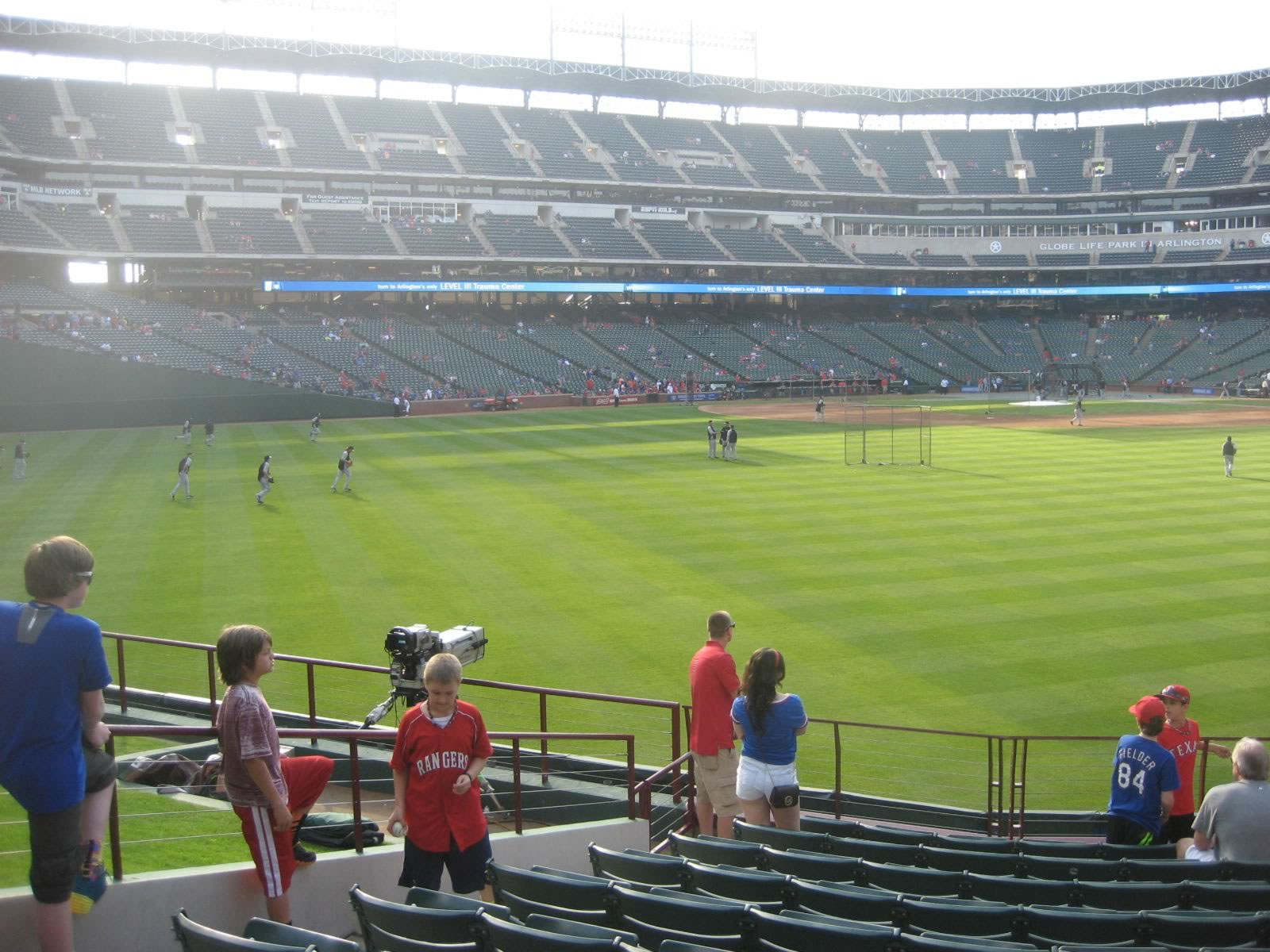 Seat View for Globe Life Park Section 52, Row 10, Seat 1