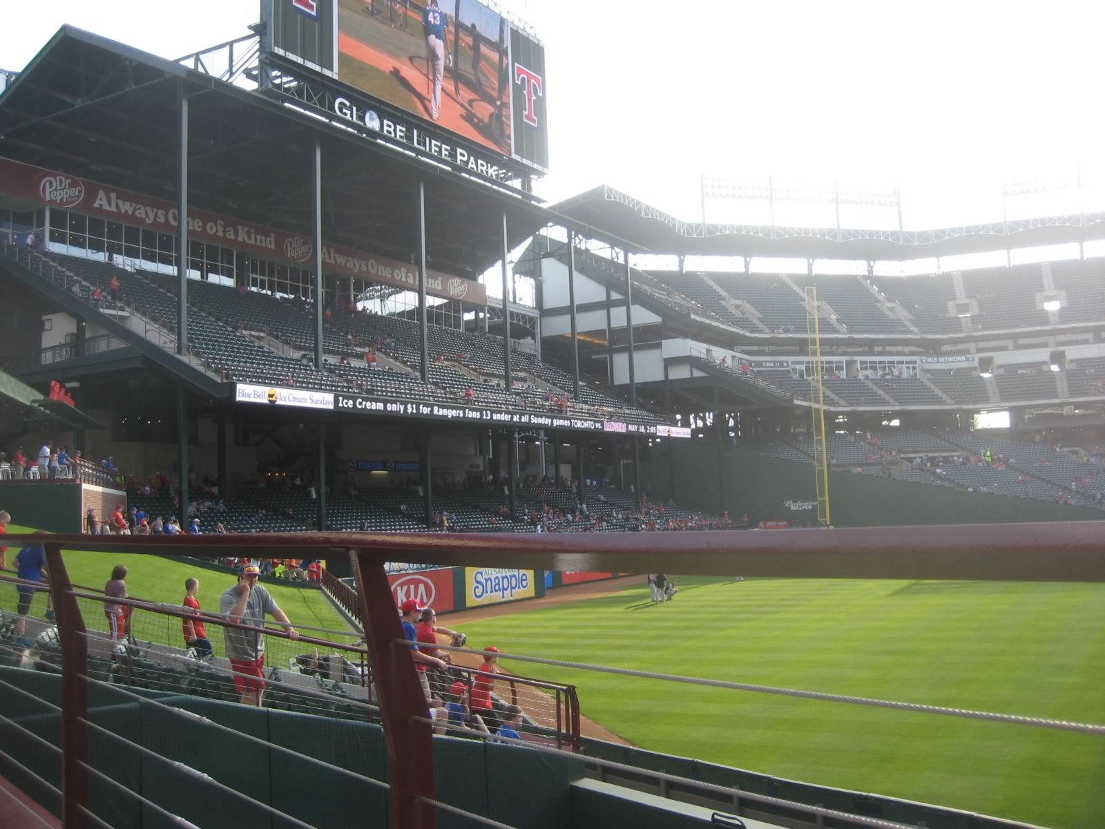 Seat View for Globe Life Park Section 54, Row 10, Seat 1