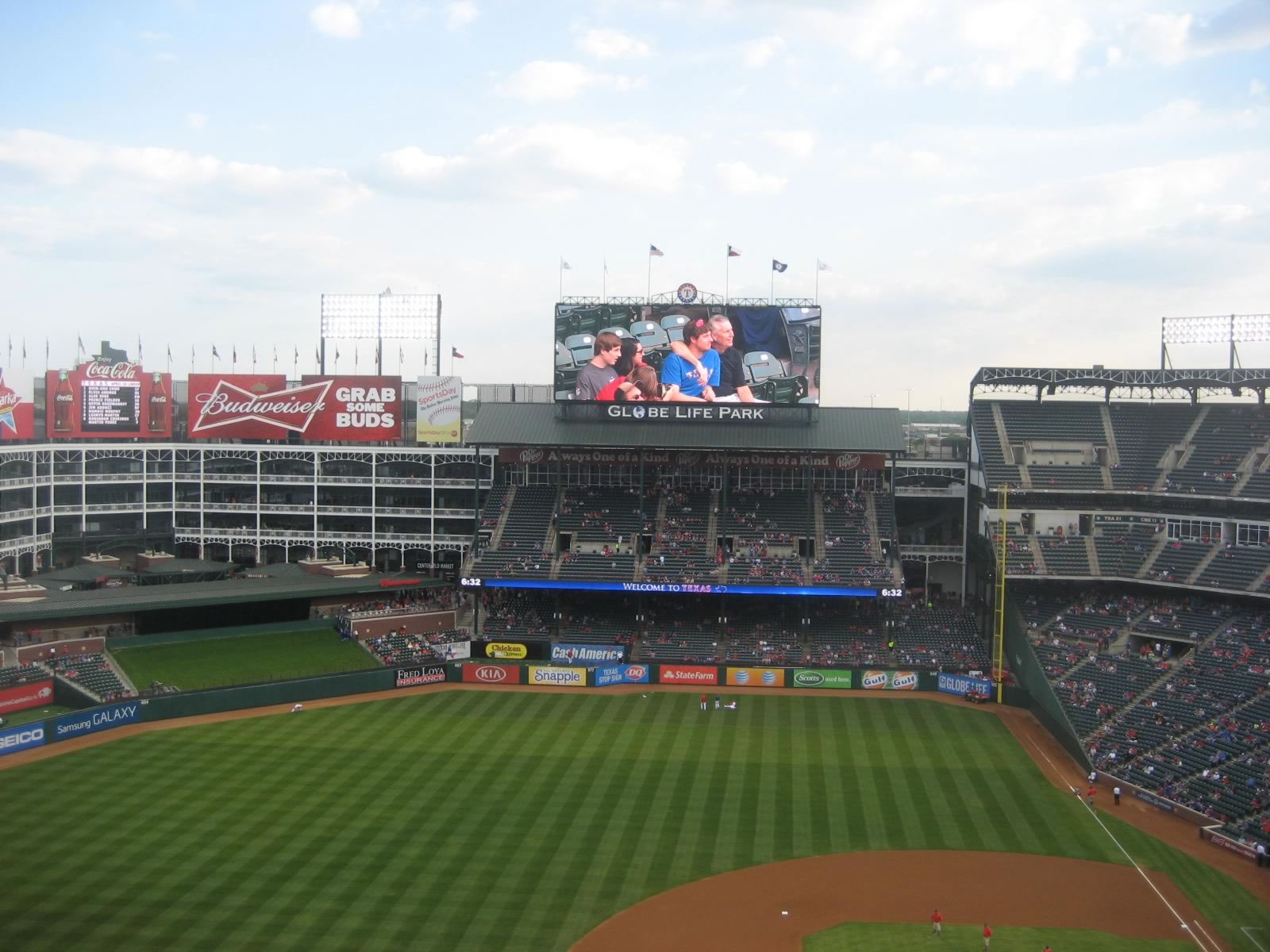 Seat View for Globe Life Park Section 319, Row 18, Seat 6