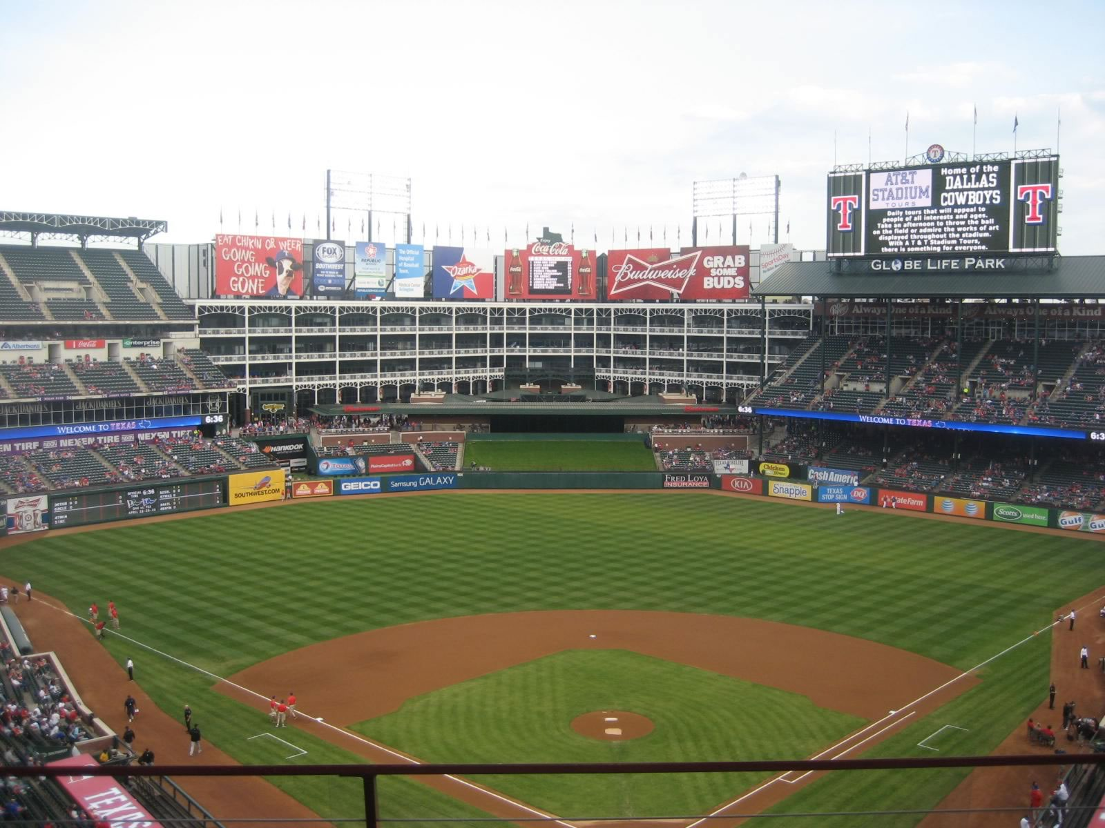 Seat View for Globe Life Park Section 325, Row 3, Seat 17