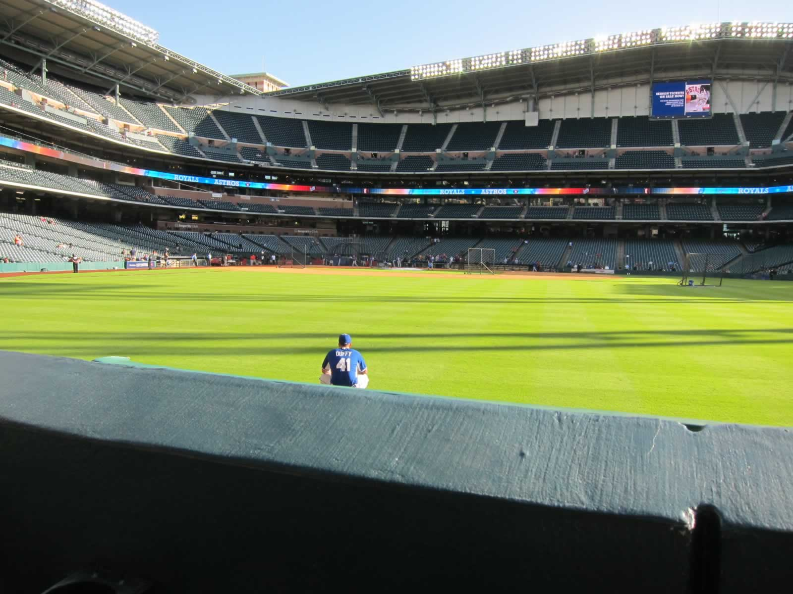 Seat View for Minute Maid Park Section 154, Row 1, Seat 5
