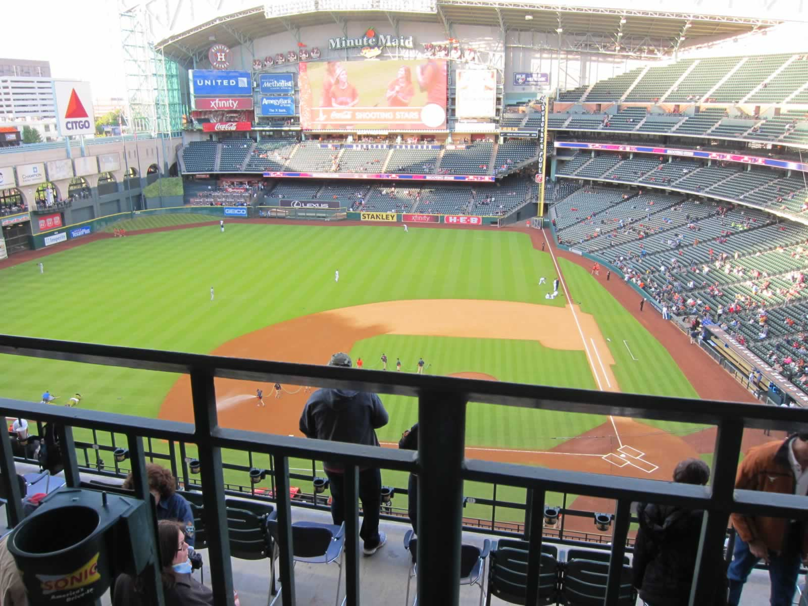 Seat View for Minute Maid Park Section 414, Row 1, Seat 17