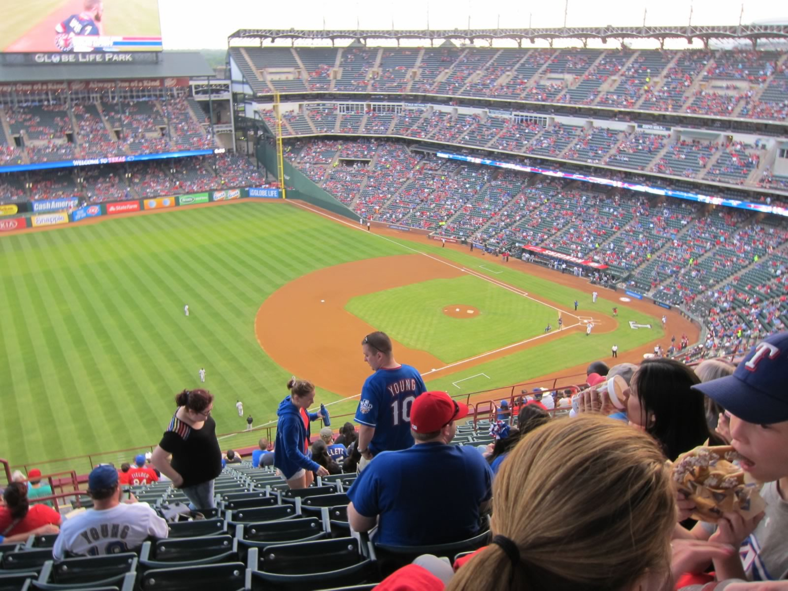 Seat View for Globe Life Park Section 315, Row 20, Seat 6