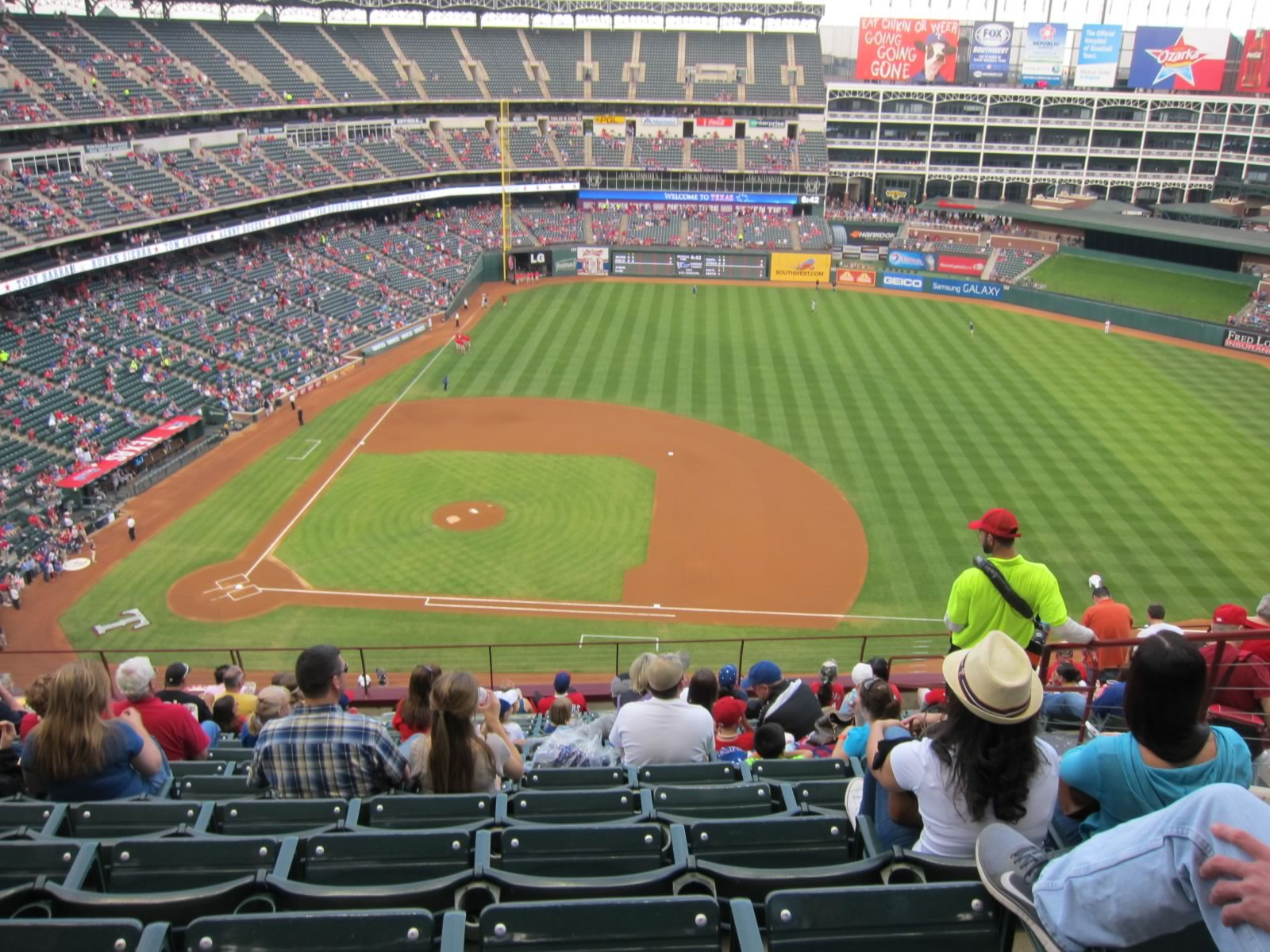 Seat View for Globe Life Park Section 333, Row 14, Seat 11