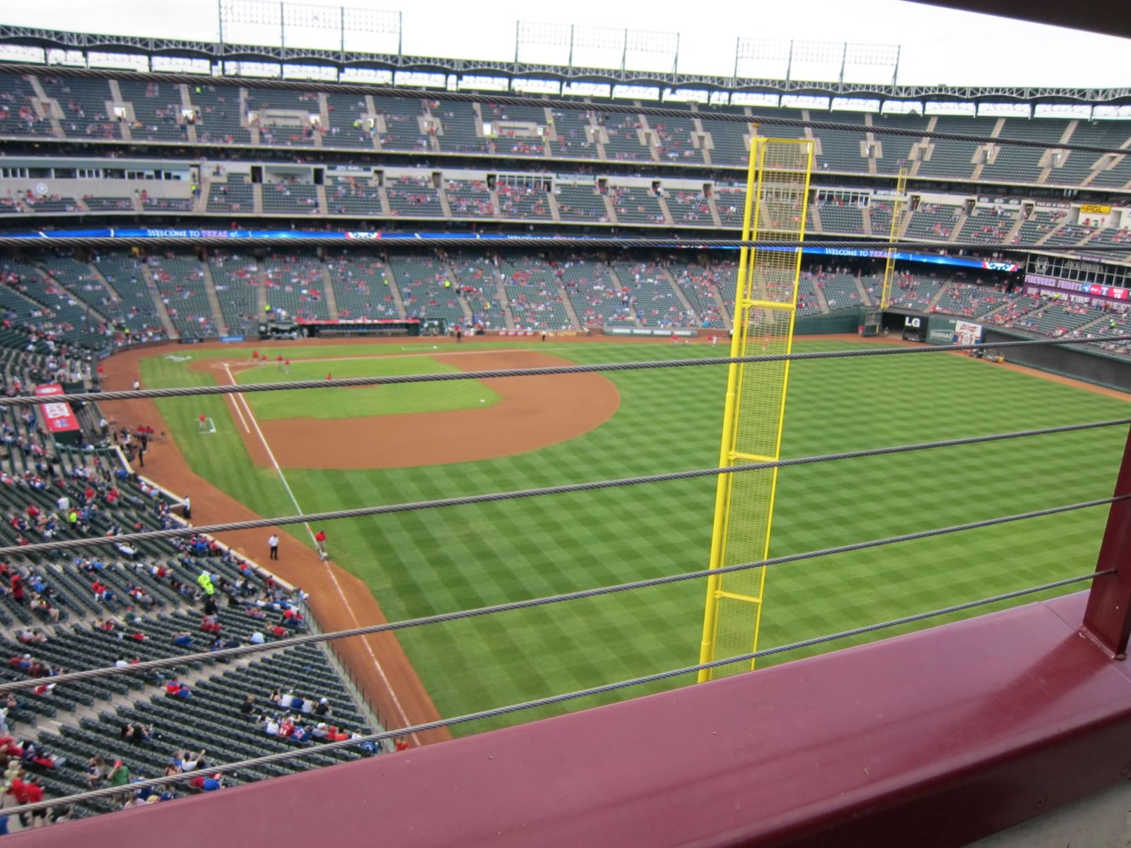 Seat View for Globe Life Park Section 344, Row 1, Seat 10