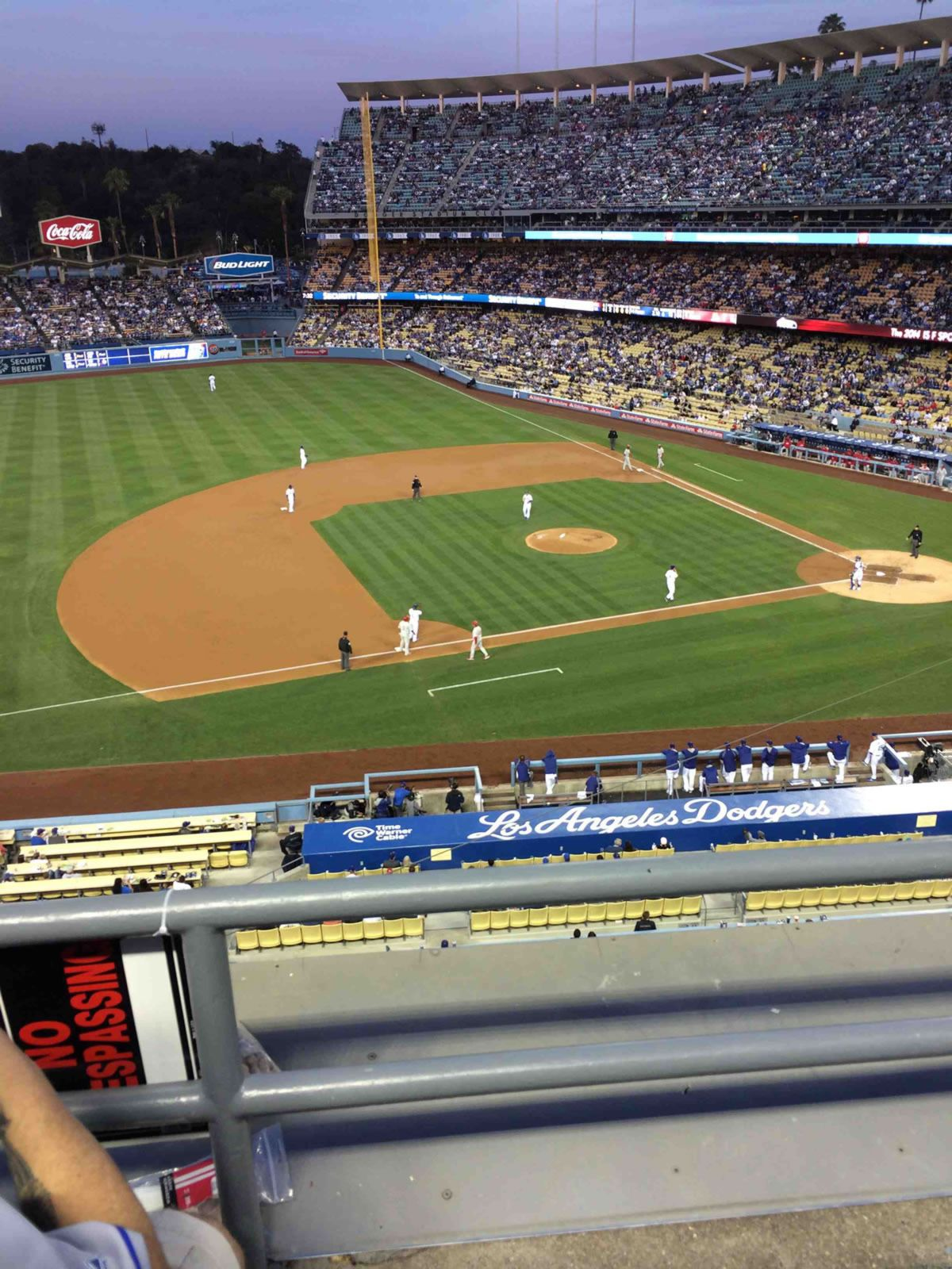 Seat View for Dodger Stadium Section 23, Row B, Seat 1