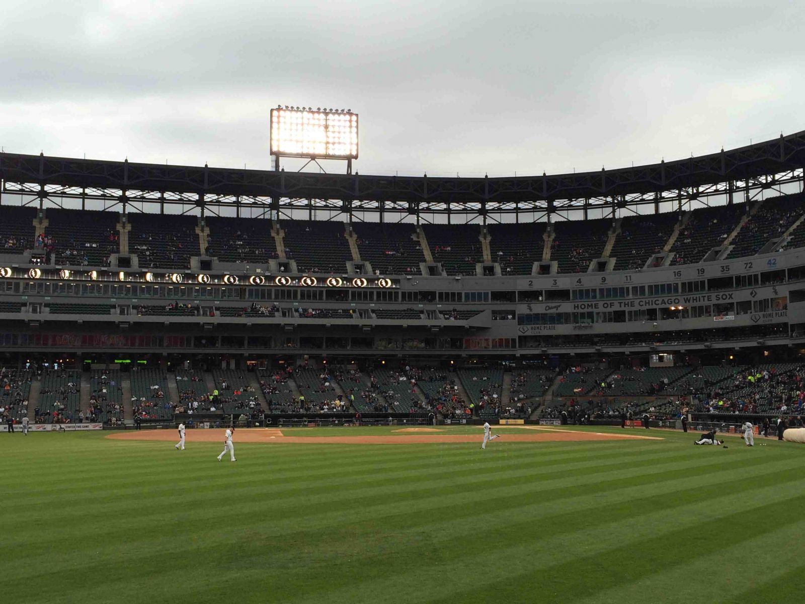 Seat View for Guaranteed Rate Field Section 159, Row 1, Seat 9