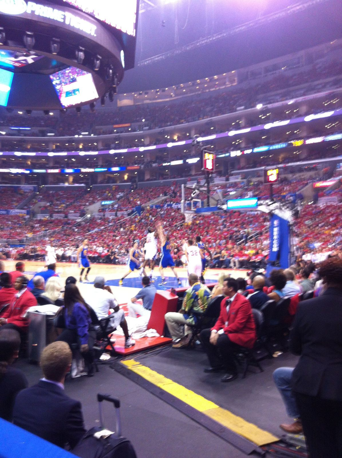 Basketball Seat View for Staples Center Section 117, Row 3, Seat 16