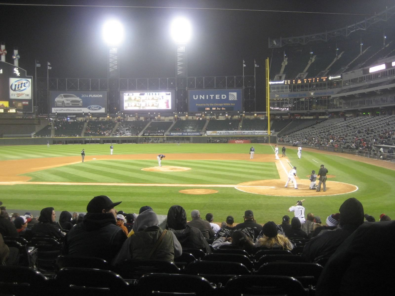 Seat View for Guaranteed Rate Field Section 136, Row 18, Seat 6