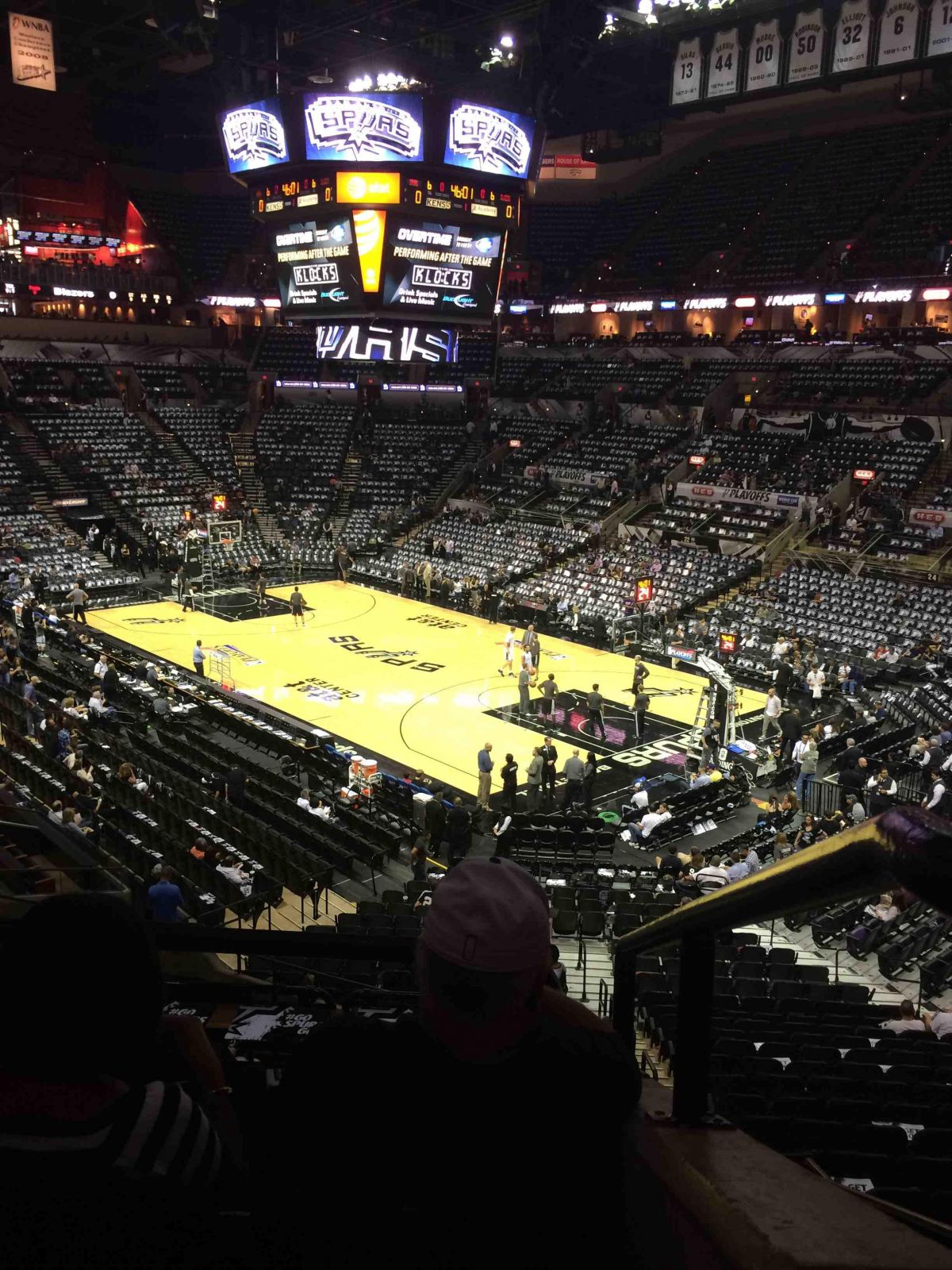 Seat View for AT&T Center Section 103, Row 31, Seat 11