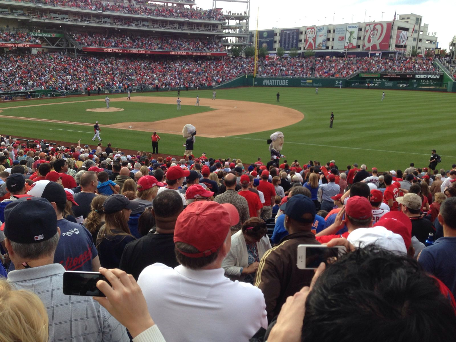 Seat View for Nationals Park Section 132, Row FF, Seat 1