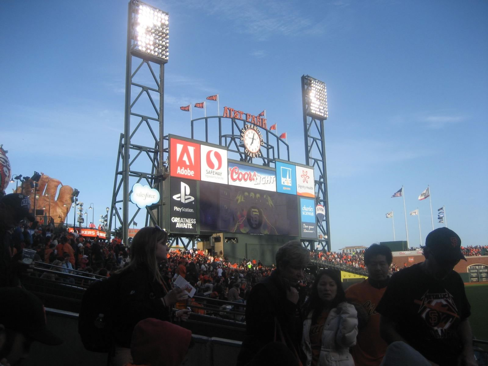 Fans Sitting Near Oracle Park Section 135
