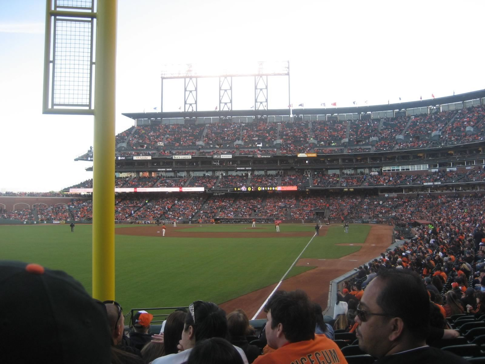 San Francisco Giants Seat View for AT&T Park Section 135, Row 21, Seat 17