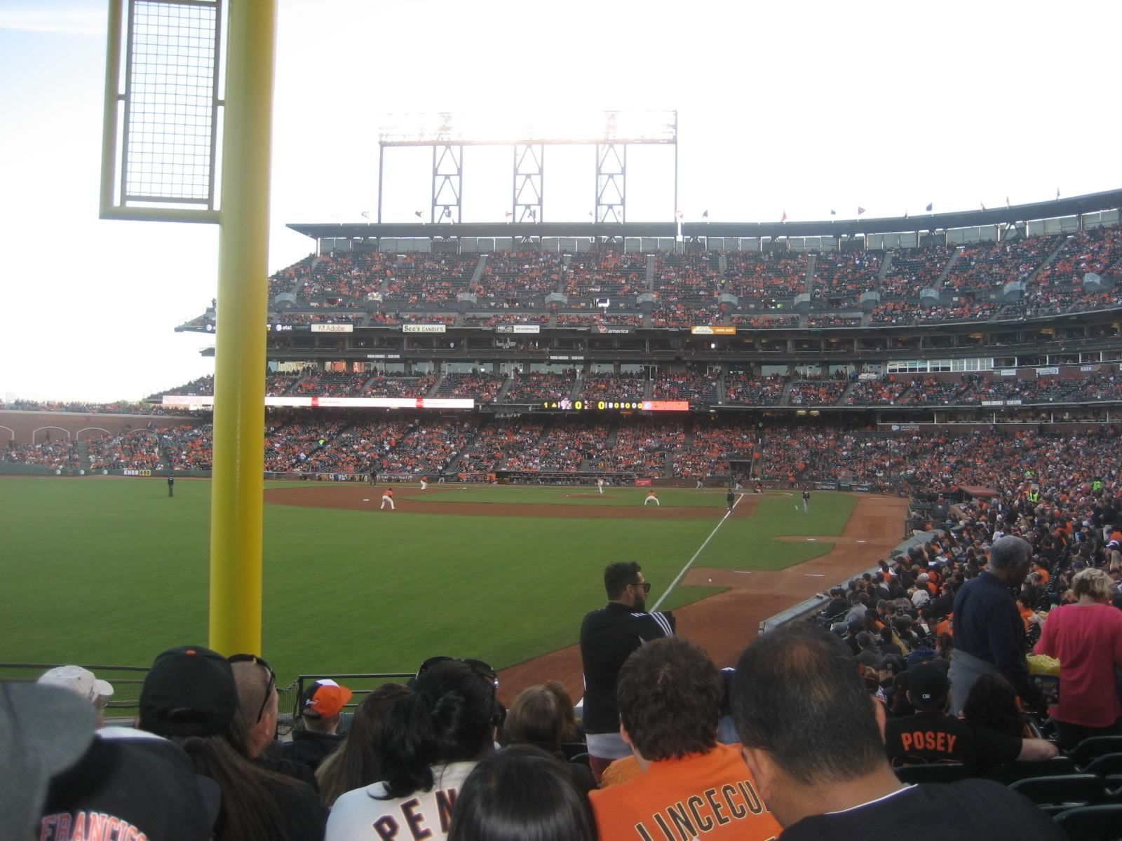 San Francisco Giants Seat View for Oracle Park Section 135, Row 21, Seat 17