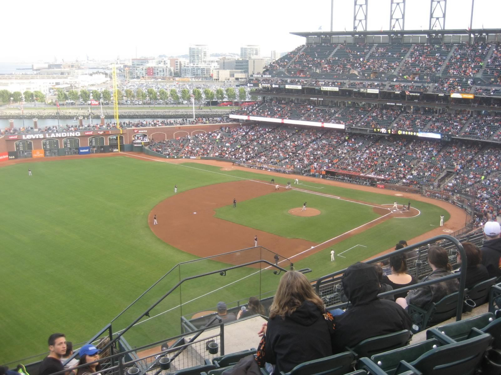 San Francisco Giants Seat View for AT&T Park Section 330, Row 6, Seat 6