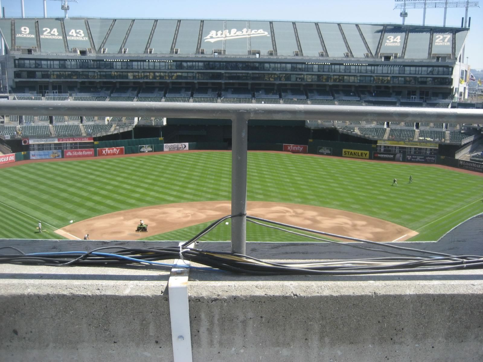 Oakland Athletics Seat View for Oakland Coliseum Section 317, Row 1