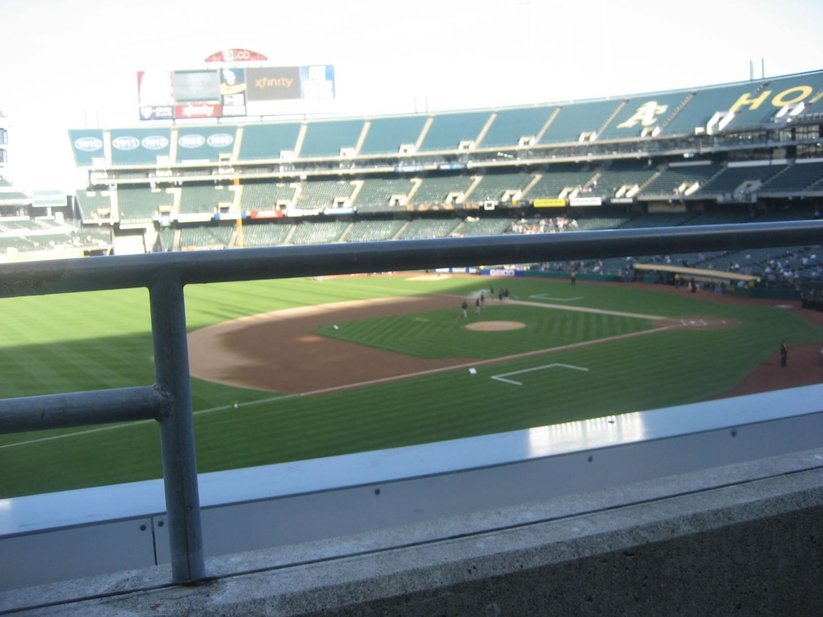 Oakland Athletics Seat View for Oakland Coliseum Section 225, Row 1, Seat 22