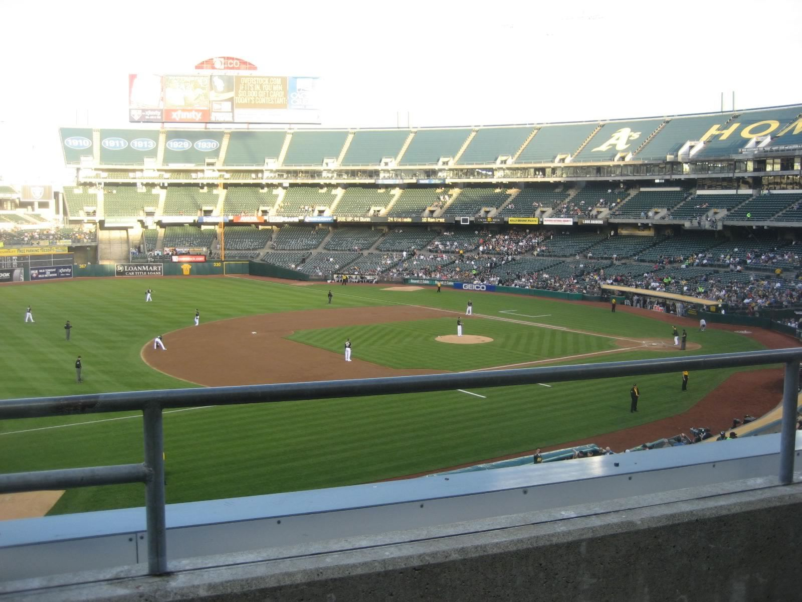 Oakland Athletics Seat View for Oakland Coliseum Section 225, Row 2