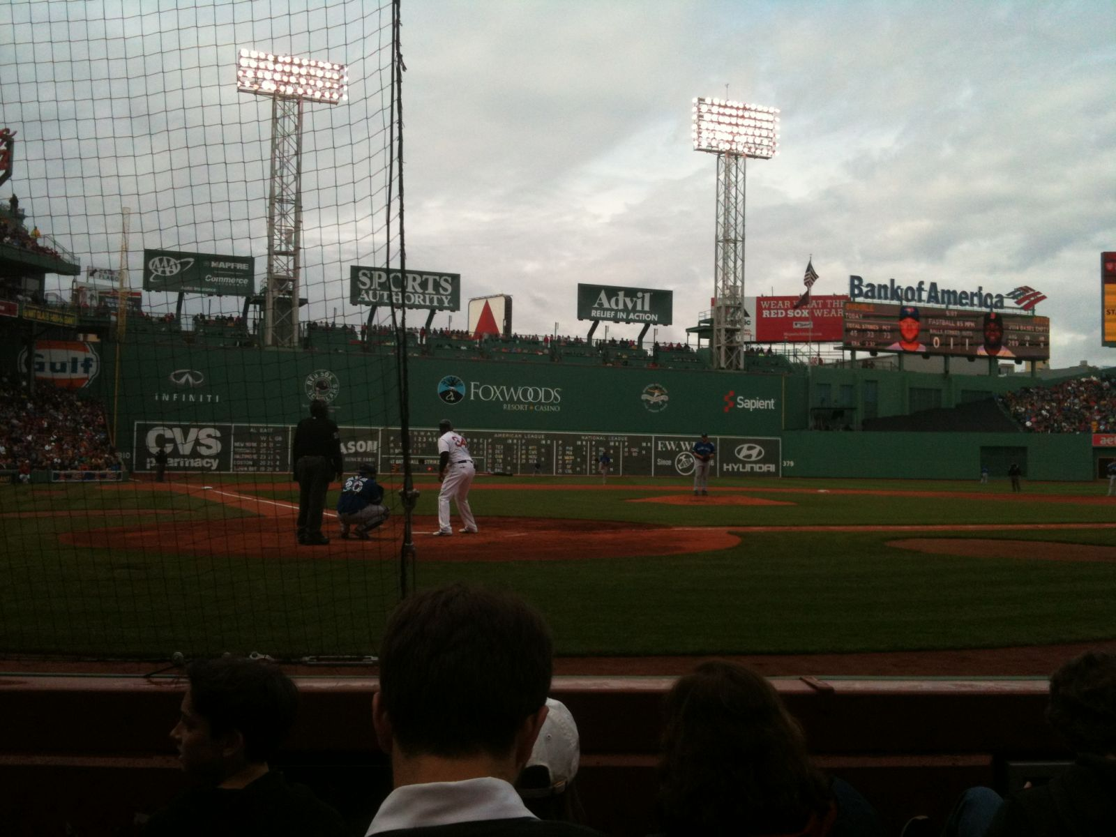 Seat View for Fenway Park Field Box 40, Row A, Seat 1