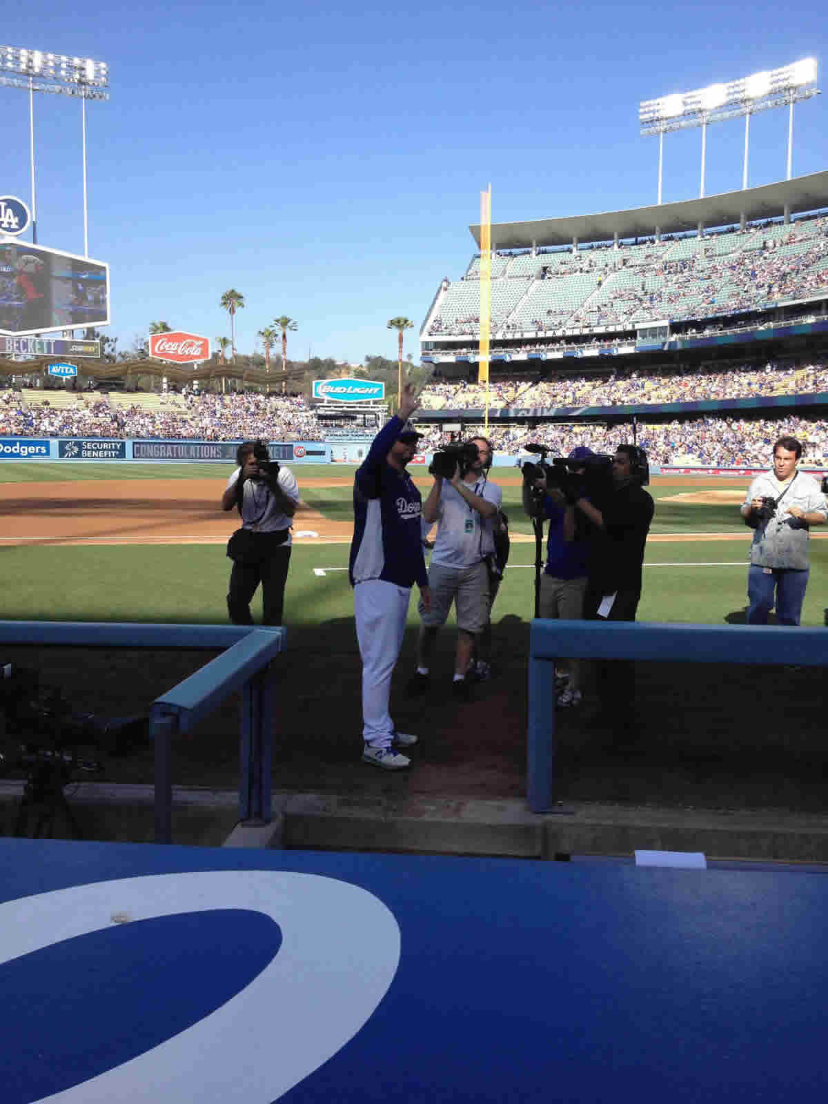 Seat View for Dodger Stadium Dugout Club 15, Row AA, Seat 5