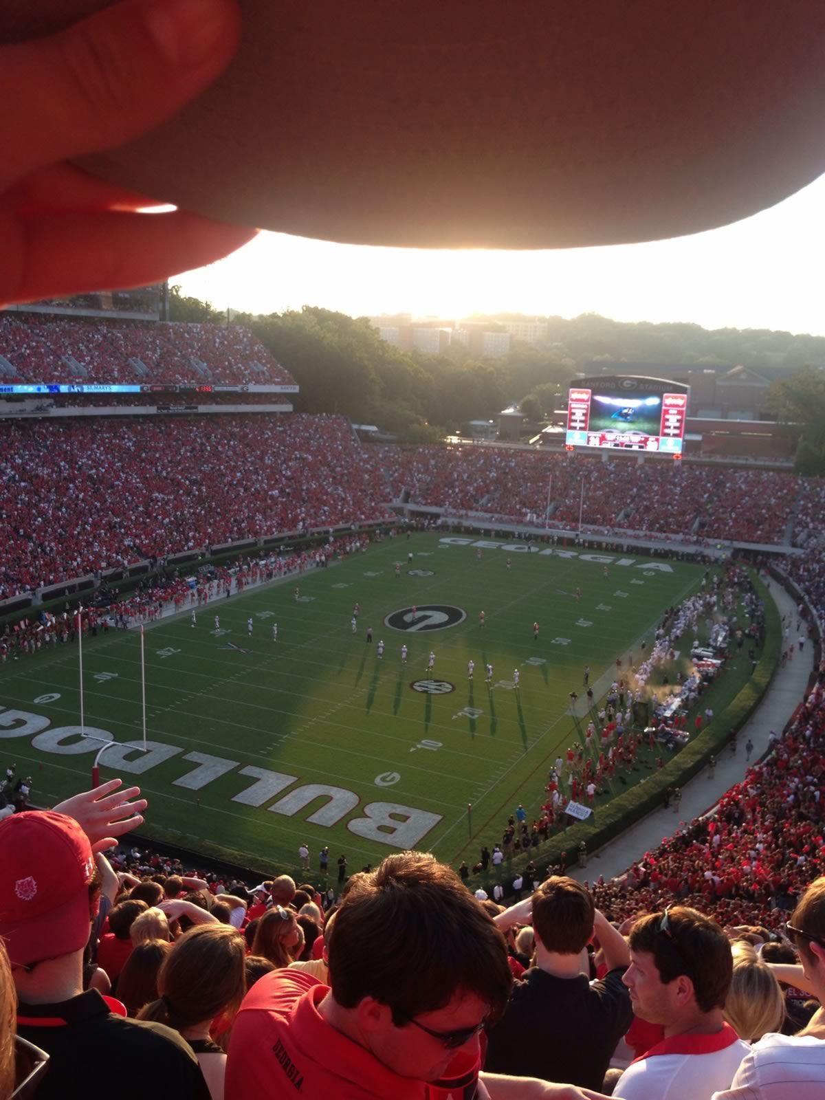 Seat View for Sanford Stadium Section 316, Row 18, Seat 5