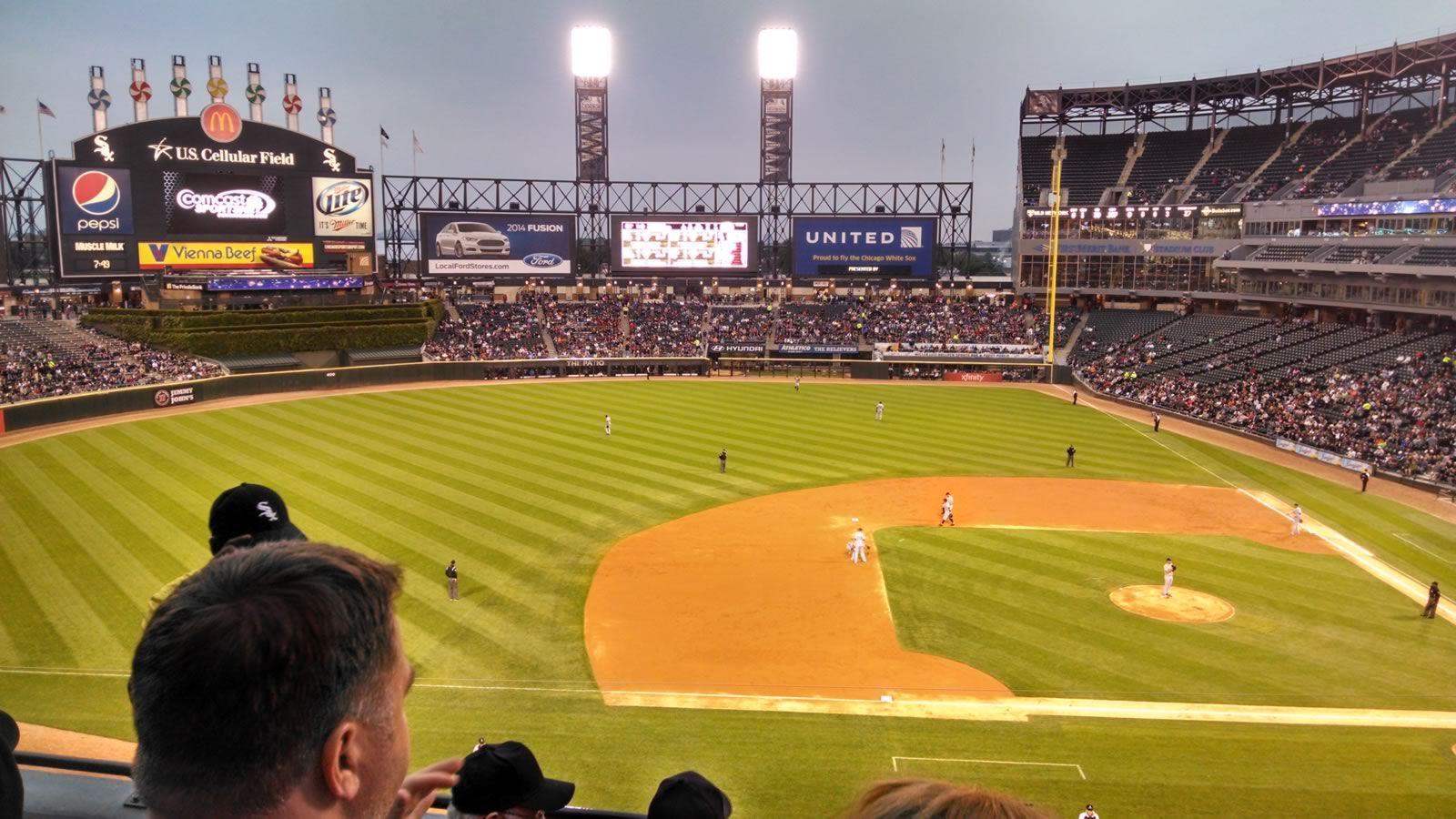 Seat View for Guaranteed Rate Field Section 340, Row 4, Seat 11