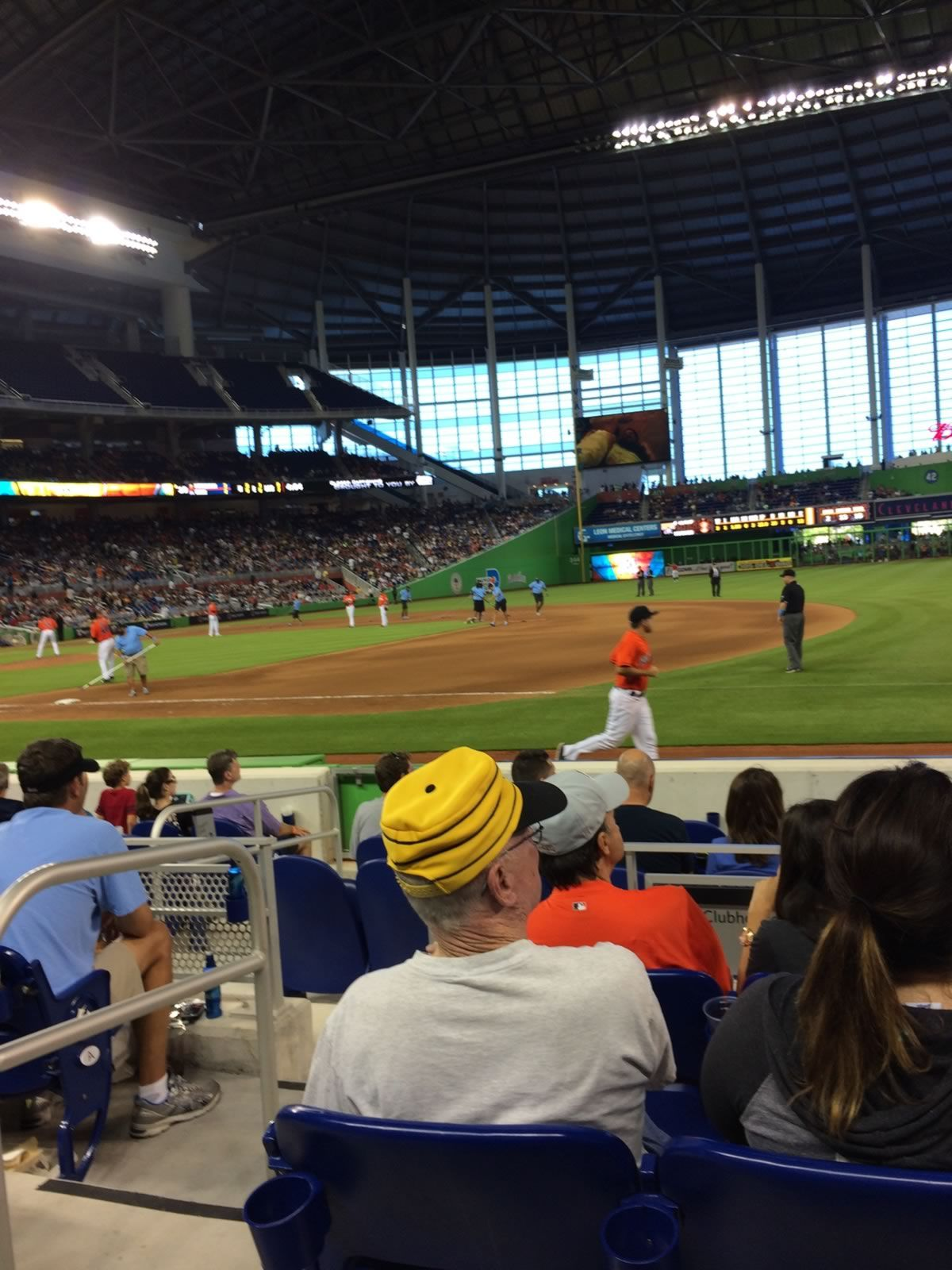 Miami Marlins Seat View for Marlins Park Section 6, Row D, Seat 12