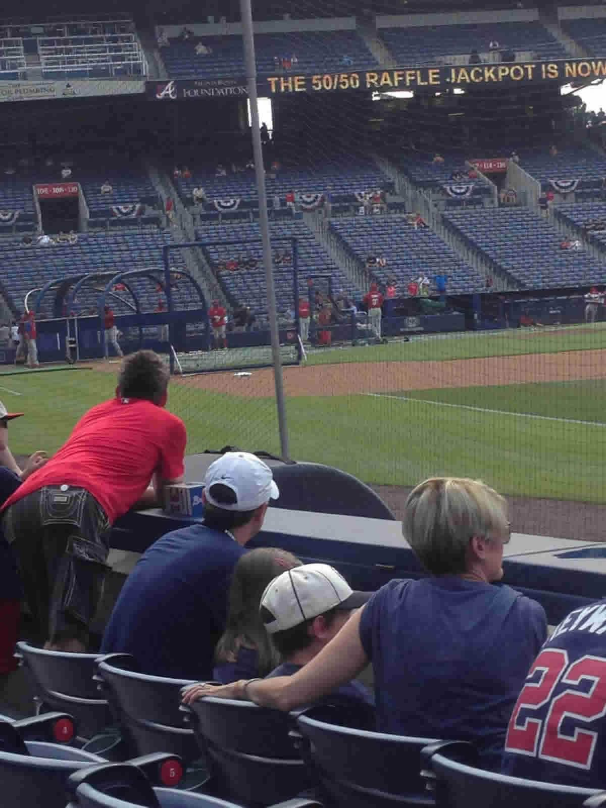 Seat View for Turner Field Section 121