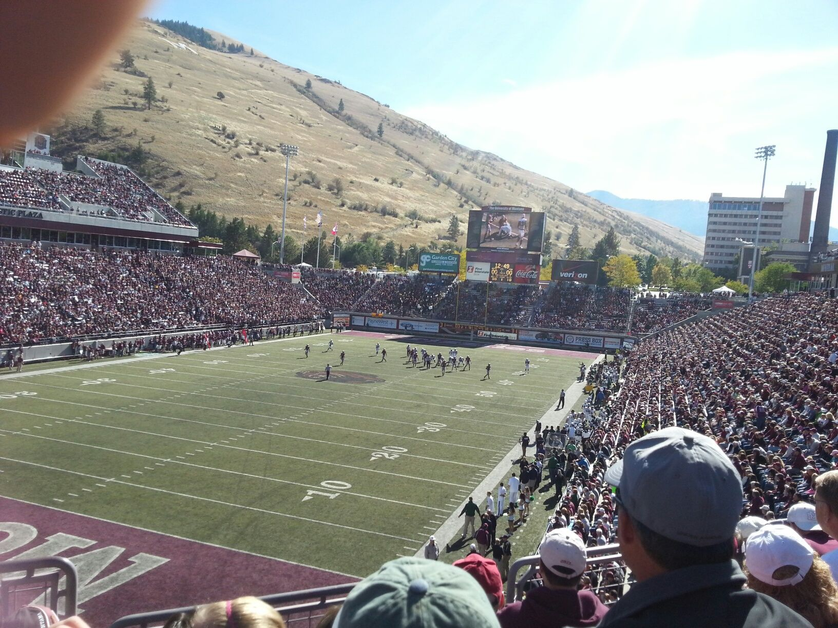 Seat View for Washington-Grizzly Stadium Section 233-B, Row 4, Seat 4