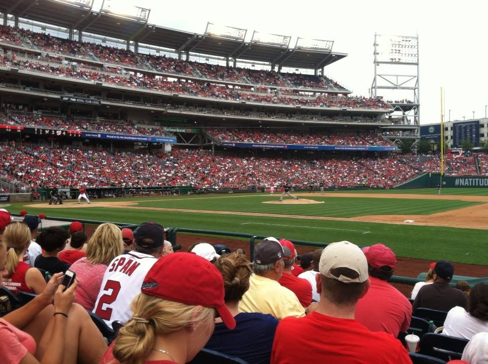 Seat View for Nationals Park Section 130, Row H, Seat 1
