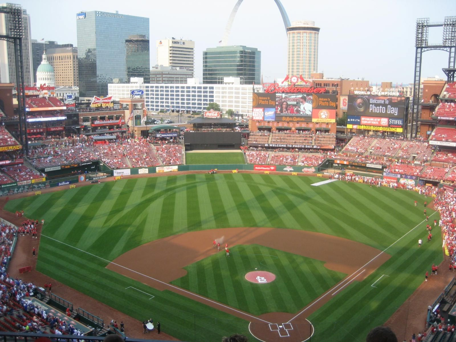 Seat View for Busch Stadium Section 451, Row 8, Seat 12