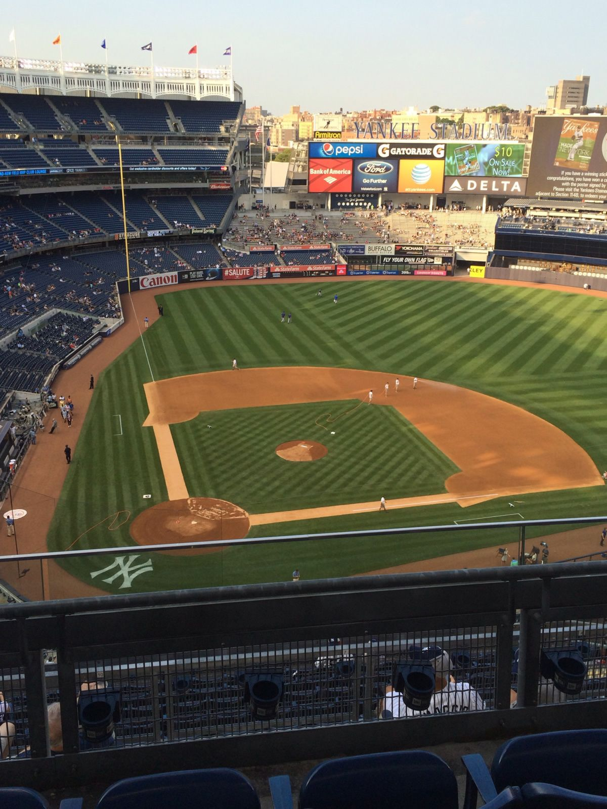 New York Yankees Seat View for Yankee Stadium Section 418, Row 3, Seat 13