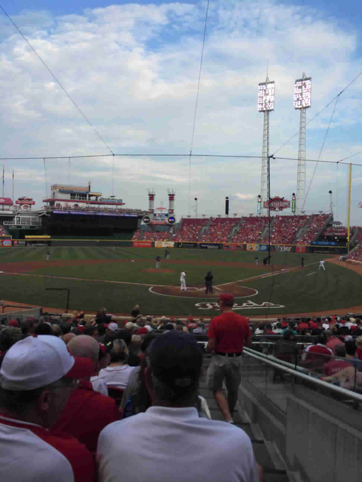 Seat View for Great American Ball Park Section 121, Row Y, Seat 1