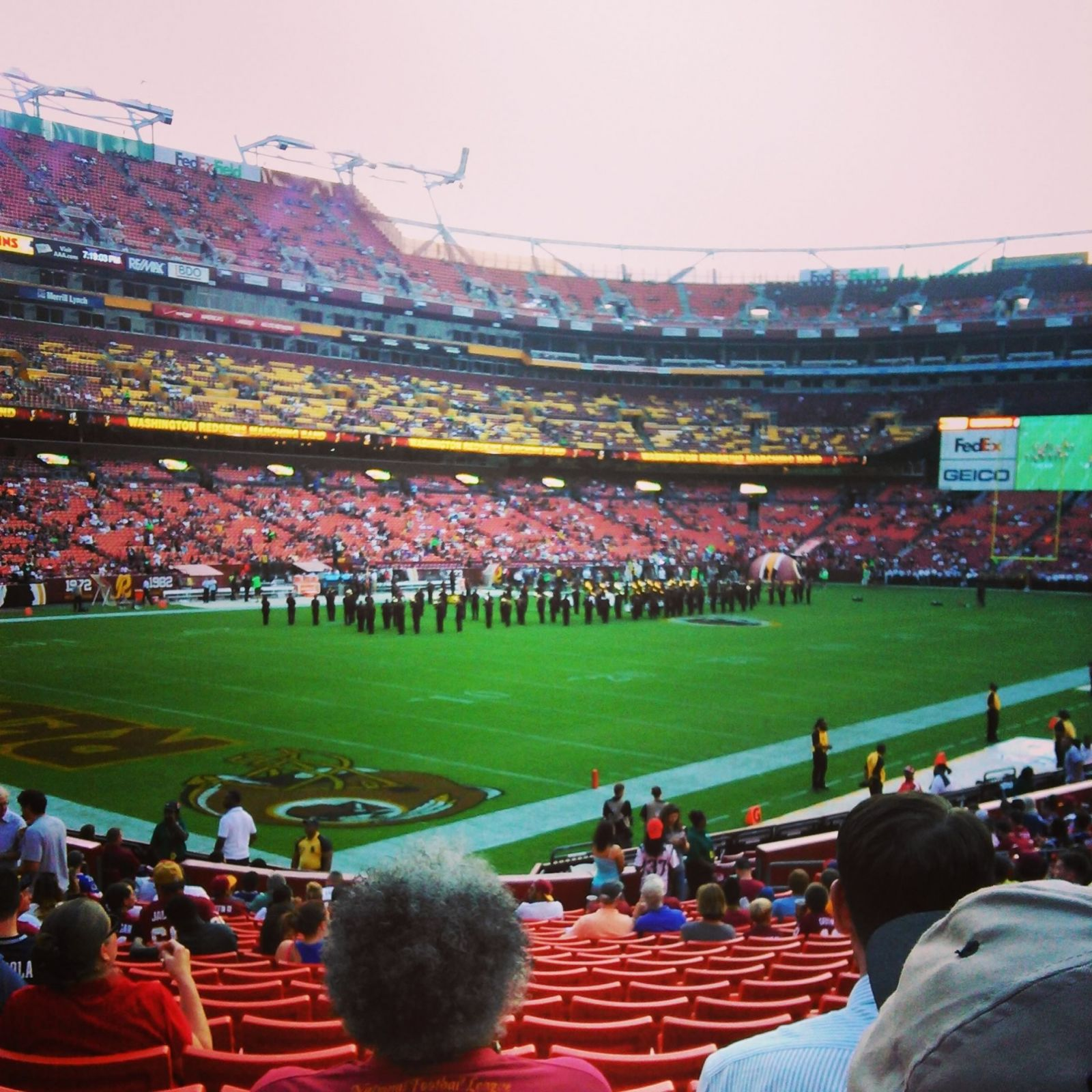 Seat View for FedExField Section 128, Row 20, Seat 7