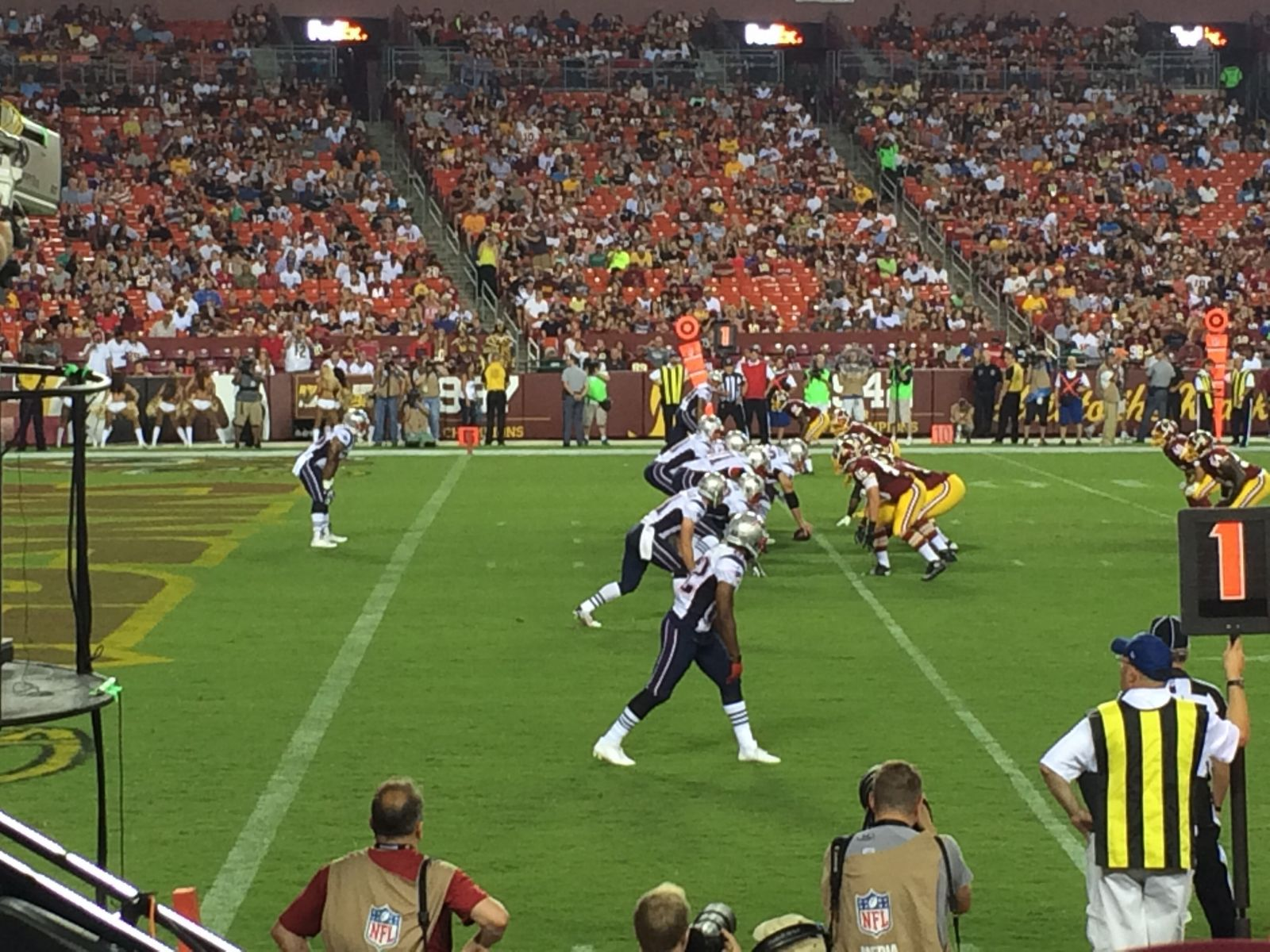 Seat View for FedExField Section 125, Row 6, Seat 18
