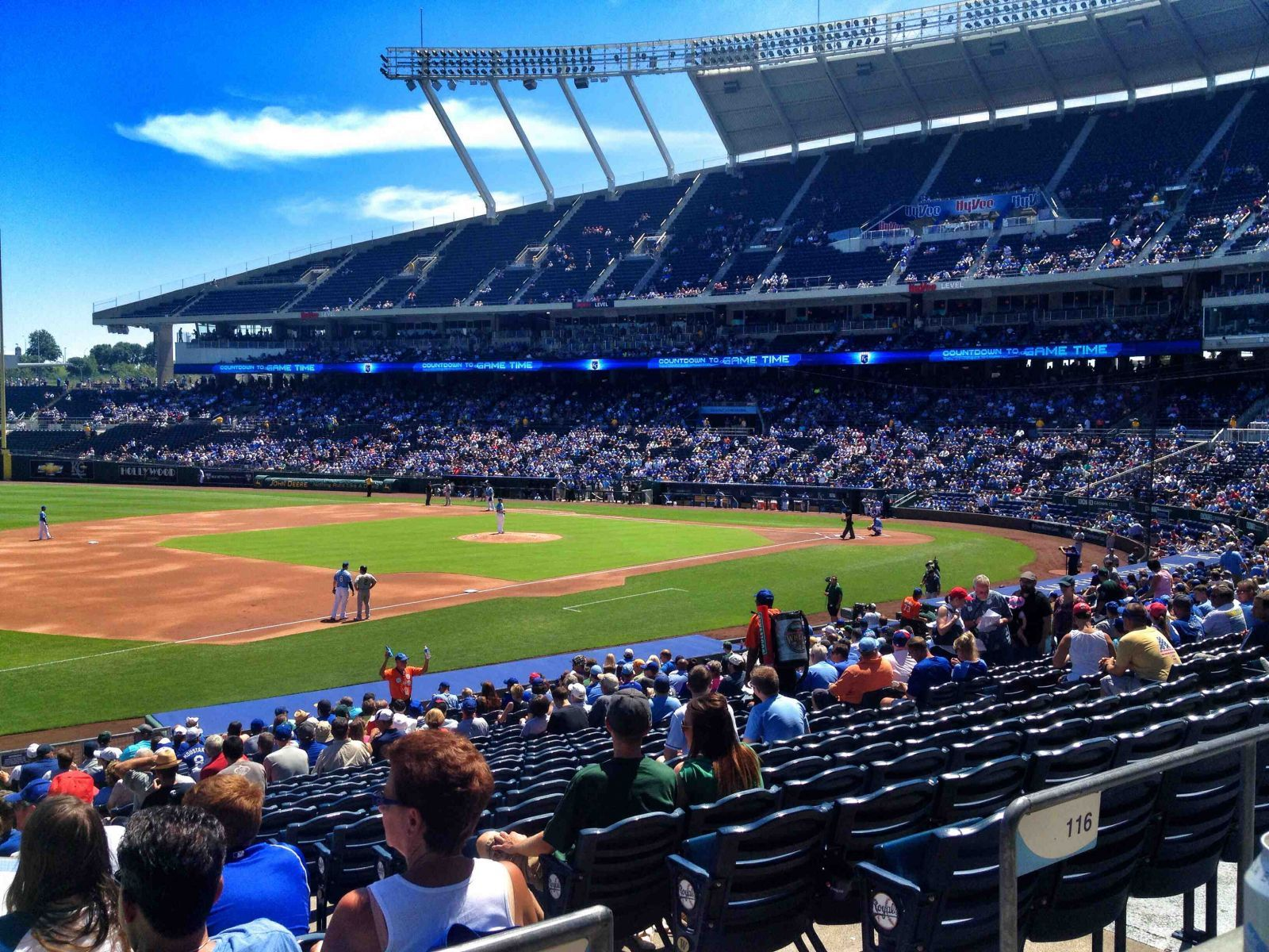 Seat View for Kauffman Stadium Section 215, Row AA, Seat 8