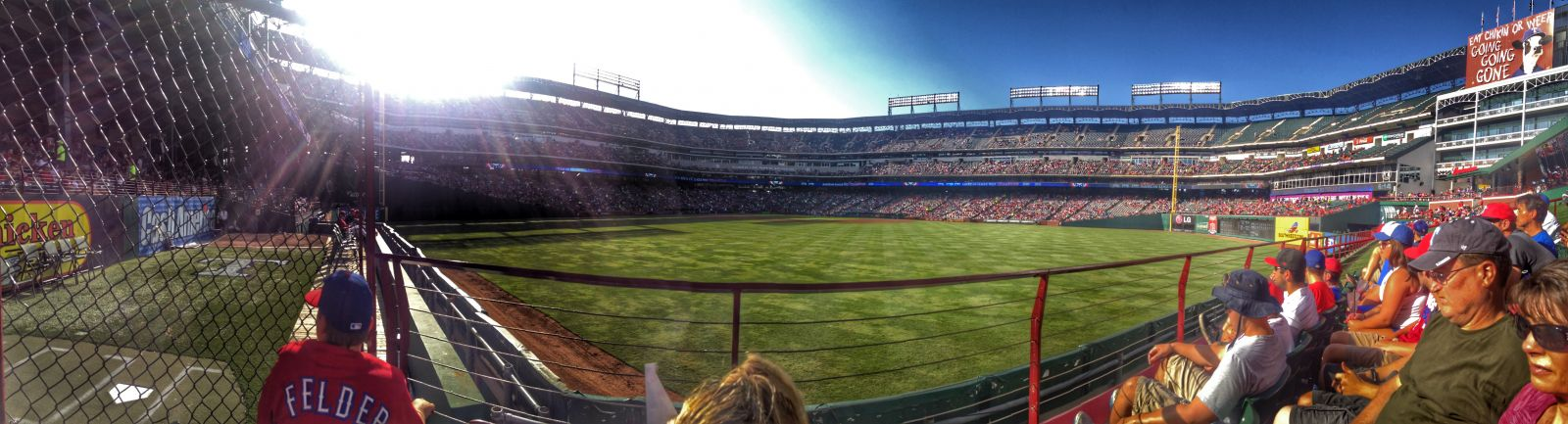 Seat View for Globe Life Park Section 51, Row 2, Seat 3